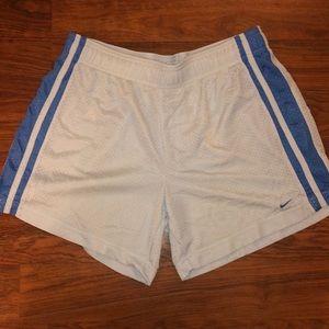 Baby blue nike mesh shorts